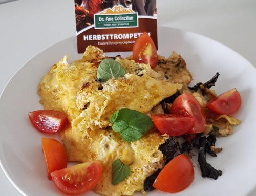 Rezept für ein herzhaftes Frühstück mit Herbsttrompeten